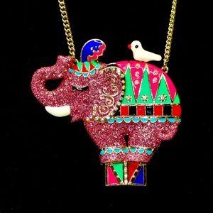 BETSEY JOHNSON~circus elephant~PENDANT NECKLACE